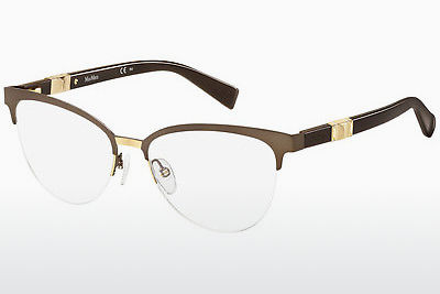 Occhiali design Max Mara MM 1291 H8T - Marrone, Oro