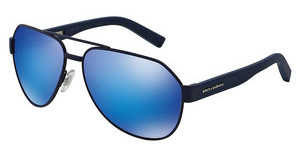 Dolce & Gabbana DG2149 127325 GREEN MIRROR LIGHT BLUEBLUE RUBBER
