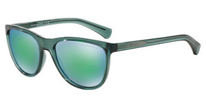 Emporio Armani EA4053 537531 LIGHT BLUE MIRROR GREENTRANSPARENT GREEN