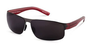 Porsche Design P8531 C greydark gun, dark red transparent mat