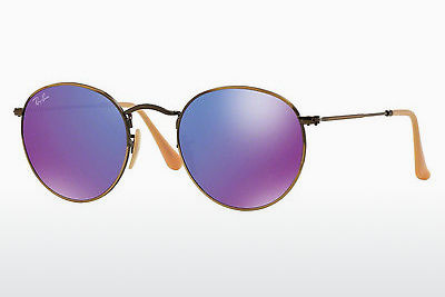 Occhiali da vista Ray-Ban ROUND METAL (RB3447 167/1M) - Marrone
