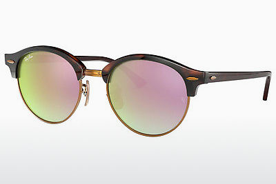 Occhiali da vista Ray-Ban CLUBROUND (RB4246 990/7Y) - Marrone, Avana