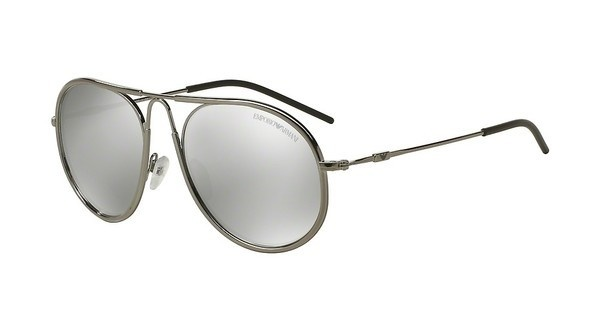 Emporio Armani EA2034 30106G LIGHT GREY MIRROR SILVERGUNMETAL