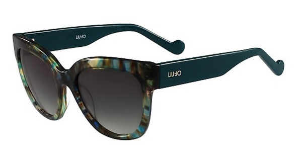 Liu Jo LJ650S 304 STRIPED GREEN PETROL