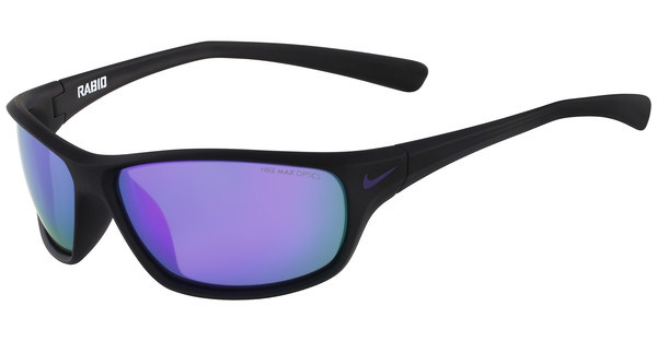 Nike RABID R EV0795 056 MATTE BLACK/ELECTRIC PURPLE WITH GREY W/ML VIOLET FLASH LENS