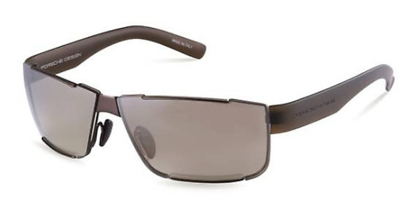 Porsche Design P8509 D brown gradient, silver mirroredbrown grey mat, olive transparent