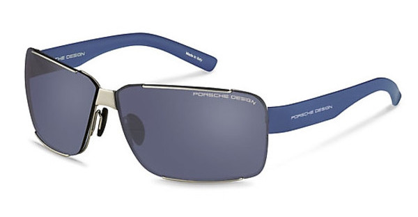 Porsche Design P8580 B blue mirror black + mercury, silver mirroredsilver