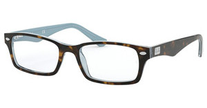 Ray-Ban RX5206 5023 TOP HAVANA ON TR AZURE