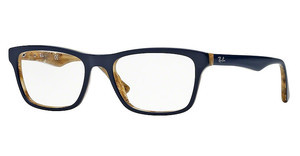 Ray-Ban RX5279 5131 TOP BLUE ON VARIEGATED BEIGE