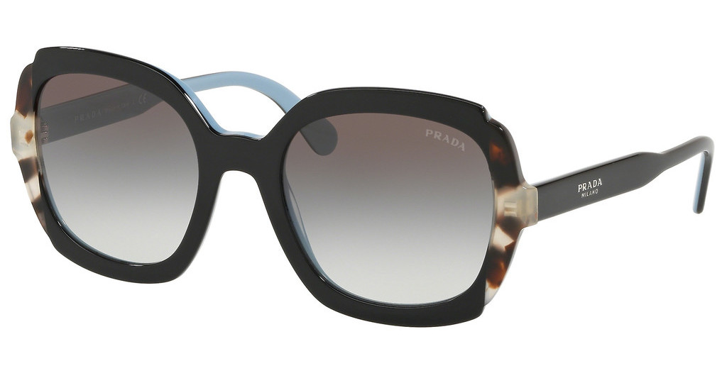 Prada   PR 16US KHR0A7 GREY GRADIENTBLACK AZURE/SPOTTED BROWN