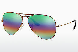 Occhiali da vista Ray-Ban AVIATOR LARGE METAL (RB3025 9018C3) - Marrone