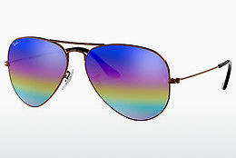 Occhiali da vista Ray-Ban AVIATOR LARGE METAL (RB3025 9019C2) - Grigio, Marrone