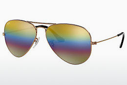 Occhiali da vista Ray-Ban AVIATOR LARGE METAL (RB3025 9020C4) - Grigio, Marrone