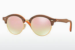 Occhiali da vista Ray-Ban Clubround Wood (RB4246M 12187O) - Marrone