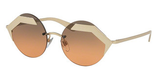 Bvlgari BV6089 202218 ORANGE GRADIENT LIGHT GREYMATTE PALE GOLD/PALE GOLD