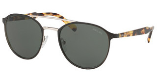 Prada PR 62TS 5243O1 GREENTOP MATTE BLACK ON SILVER
