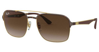 Ray-Ban RB3570 900813 GRADIENT BROWNGOLD TOP HAVANA