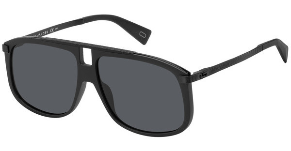Marc Jacobs Marc 243/S FQ 2M2, Occhiali da Sole Uomo, Nero (Black Gold/Grey Grey), 60